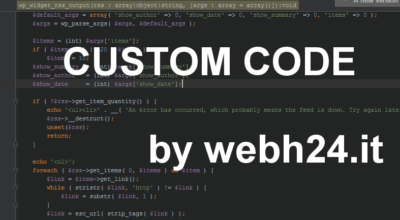 customcode by webh24.it